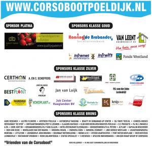 Sponsors Corsoboot Poeldijk 2016